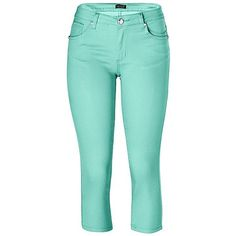 Color capri jeans (347.335 IDR) ❤ liked on Polyvore featuring jeans, pants, blue capri, blue jeans and capri jeans