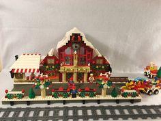 Lego Christmas Sets, Lego Christmas Village, Lego Winter Village, Lego Village, White Christmas Trees, Christmas Town, Christmas Villages, Christmas Mantles, Holiday