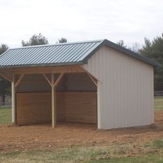 Site Built Run in shed