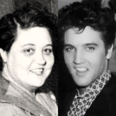 Elvis & his mother Gladys