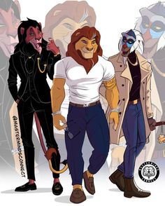 This talented artist and Disney fan transformed The Lion King animals into humanlike characters, and the results are amazing. The Lion King Characters, Cartoon Characters As Humans, Disney Characters, Cartoon As Anime, Dope Cartoon Art, Disney Princess Art, Disney Fan Art, Disney Princesses, Art Roi Lion