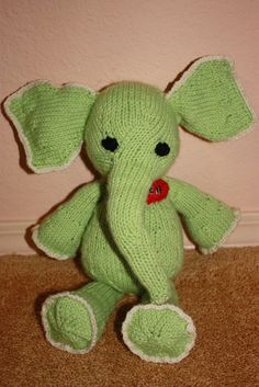 Hand Knit Personalized Adorable Baby Elephant by mkervin on Etsy, $38.00