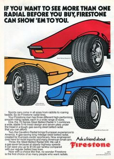Old Advertisements, Advertising, Firestone Tires, Van Car, Old Ads, Vintage Ads, Hot Rods, Tired, Cars