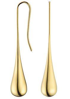 Calvin klein gold drop earrings