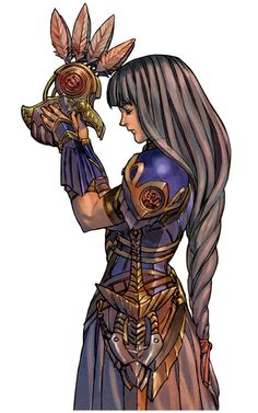 Lenneth Concept Art - Valkyrie Profile (PS1)