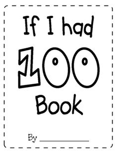 This is a book students can complete on the 100th Day of School!