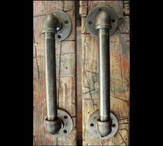 Industrial-door-handles-black-pipe
