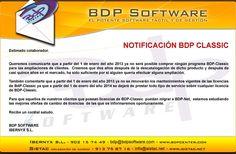 PCMIRA - ECR : FIN BDP CLASSIC A partir del 1 de enero de 2013 ya no será posible adquirir licencias de BDP-Classic para clientes que desearan ampliar sus instalaciones.    A su vez, tampoco se podrán renovar los contratos de mantenimiento vigentes de BDP-Classic a partir de enero, ya que a partir del 1 de enero de 2014 se dejará de prestar cualquier servicio sobre el programa BDP-Classic.