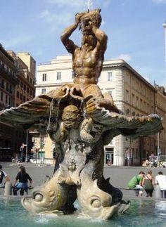 Bernini, Triton Fountain in Rome, Italy