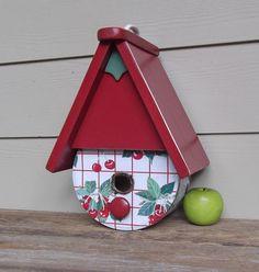 Cookie Tin Birdhouse-Cherries by Milepost7 @ Etsy