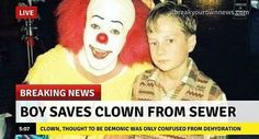 BREAKING NEWS!!! #IT #Pennywise #fakenews #nerdbait #ITmovie #IT2017 #news #horror #horrorfan #horroraddict #horrorfilm #horrormovie #horrorfilms #horrormovies #horrorart #horrormovienight #horrormovieaddict #horrormoviefan