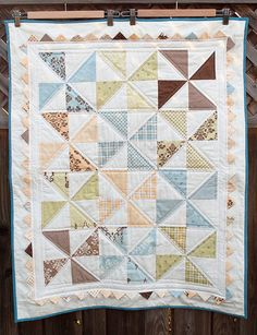 Baby quilt front by asdesigned, via Flickr