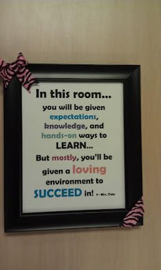 Great class sign!  I'd tweak the wording a bit for middle/high students, but I really like this.