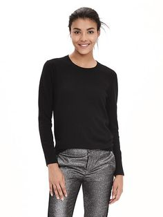 Italian Cashmere-Blend Sweater Pullover | Banana Republic