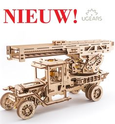 UGears Fire Truck with Ladder mechanical wooden model KIT puzzle Assembly Puzzles 3d, Puzzles For Kids, Wooden Puzzles, 3d Laser Printer, Wooden Model Kits, Firefighter Gifts, Fire Engine, Manet, Fire Trucks