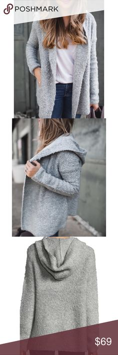 Hooded Cardigan Like new condition - only worn once. Fits true to size. Very comfortable. See pictures for details. No trades // No PayPal. Joie Sweaters Cardigans