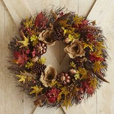Burlap Flower Wreath - 30""