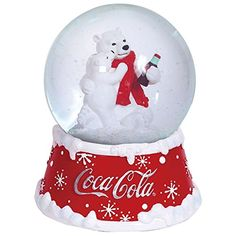 Westland Giftware Resin Water Globe, Coca-Cola Holiday Polar Bears, 100 mm Waterglobe