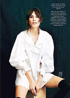 Alexa Chung in Ralph Lauren Collection - The Sunday Times Magazine