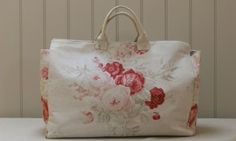 shabby roses on a pretty bag