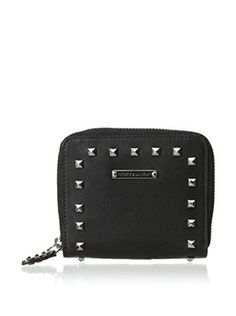 Rebecca Minkoff Women's Sylvie Small Zip Wallet With Studs, Black