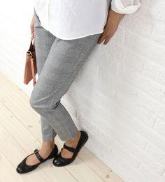 glaz(グラズ) コットン ポリウレタン 9分丈 グレンチェック レギンスパンツ・gz-43229  #glaz Birkenstock Mayari, Sandals, Pants, Shoes, Fashion, Trouser Pants, Moda, Shoes Sandals, Zapatos
