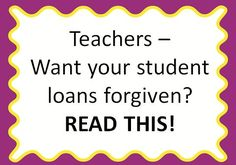 Teacher Student Loan Forgiveness {Find out if you qualify for loan forgiveness, how to apply, and what other programs you might be eligible for! Great follow up post links included, plus lots of great information in the comments section!}