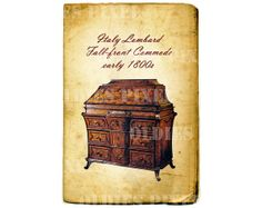 Vintage Furniture Early 1800s Italy Lombard Fall by OldiesPixel, $3.25