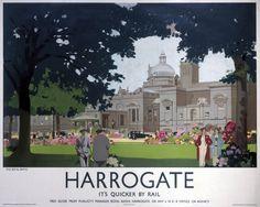 #Harrogate, North #Yorkshire #Railway Poster, #England.