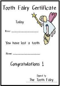Tooth fairy pillow free printable tooth fairy certificate tooth fairy certificate is a great little keepsake yelopaper Image collections