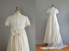 vintage 1960s Emma Domb wedding dress