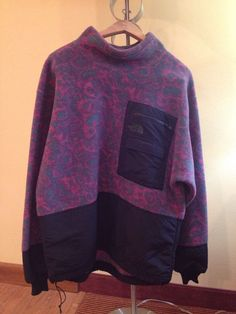 RARE Vintage The North Face RAGE Geometric Fleece Pullover Jacket Men's Sm USA