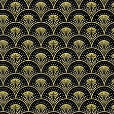 The Rhapsody In Blue fabric collection by Maria Kalinowski has this metallic gold fan fare print on black fabric. Rhapsody In Blue, Cotton Crafts, Crochet Patterns For Beginners, Pattern Art, Pattern Ideas, Fabric Online, Blue Fabric, Scrapbook Paper, Quilts