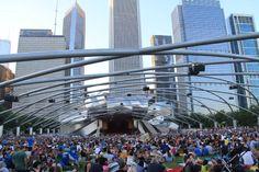summer concert at Millenium Park