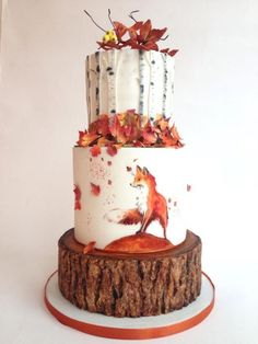 Awesome 35+ Beautiful Wedding Fall Cake Decorations For Your Wedding Party Ideas  https://oosile.com/35-beautiful-wedding-fall-cake-decorations-for-your-wedding-party-ideas-12274