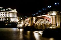 Blackfriars bridge by night- London