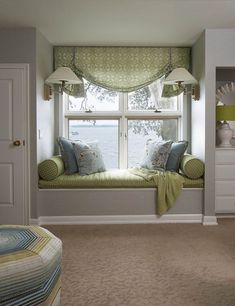 Peter Pan Inspired Nursery Design - Great Window Seat by LiLu Interiors - Home Decor Furniture, Home Decor Bedroom, Furniture Design, Couch For Bedroom, Window Furniture, Bedroom Modern, Dream Bedroom, Home Room Design, House Design