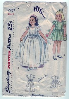 Vintage 1948 Simplicity 2267 Sewing Pattern by SewUniqueClassique, $10.00