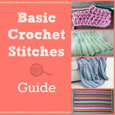 This Basic Crochet Stitches Guide is great for beginner crochet. Find free crochet patterns that use different basic crochet stitches. Crochet Afghans, Crochet 101, Crochet Motifs, Crochet Quilt, Crochet Stitches Patterns, Tunisian Crochet, Crochet Basics, Crochet For Beginners, Learn To Crochet