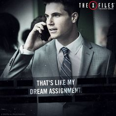 Mulling over cryptic files in a basement office? Call Agent Miller.  #xfiles #RobbieAmell #xfilesrevival #qotd #Quotes #tv
