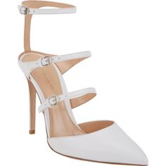 Gianvito Rossi Carey Triple-Strap Sandals (1,115 CAD) found on Polyvore