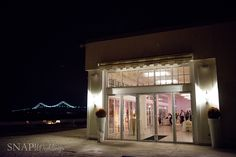 Love this outside shot of the Salon at night - Snap! Photography #newportwedding #marchwedding