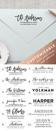 Make addressing all of your envelopes easier by using a self inking personalized wedding return address stamp. | Blush Paper Co.