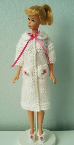 Barbie Hand Made Clothes Knitted Robe And by BarbiesRetroBoutique, $16.99