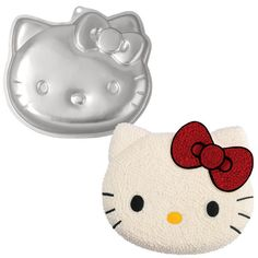 This Hello Kitty cake pan is easy to use and comes with instructions. The pan can take any 2-layer cake mix. Perfect for birthdays, bake sales, and more!