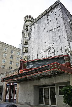 The Queen Theater / Bryan TX, via Flickr.  Lucky for the Queen, she is on her way to being restored.