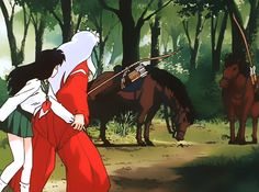 Kagome and Inuyasha Inuyasha And Sesshomaru, Kagome And Inuyasha, Kagome Higurashi, Great Love Stories, Anime One, Worlds Of Fun, Ghibli, Anime Characters, Fairy Tales