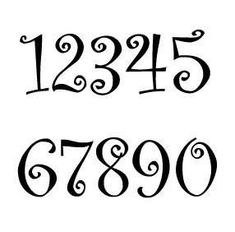 Curlz Font House Number or Letter (Set of / 2 Inch up to 8 Inch / Address / Custom / Metal / Business / Restaurant / Office / Powder Coated Rustic House Numbers, Metal House Numbers, Wedding Table Numbers, Metal Letters, Letters And Numbers, Cursive Numbers, Type Logo, Alphabet, Letter Wall Decor