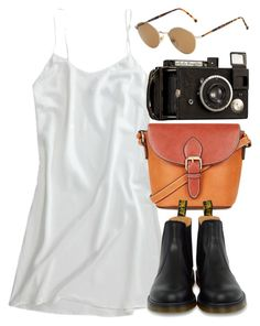 """""""Untitled #5549"""" by rachellouisewilliamson on Polyvore featuring Topshop, Dr. Martens and Persol"""