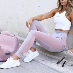 Fashion Casual Multicolor High Waist Sport Gym Running Pants Trousers Sweatpants #YogaforEveryone